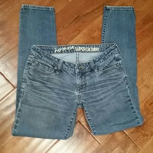 BULLHEAD size 1S super skinny medium blue jeans